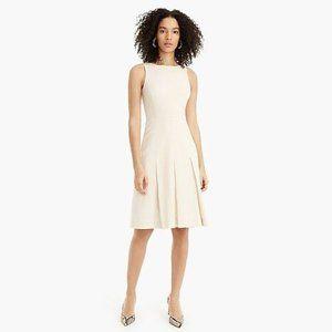 J. CREW 365 Pleated A-Line Dress Stretch Wool W30